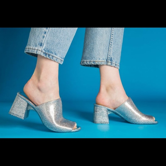 ff2af09fe30a Jeffrey Campbell Shoes - Jeffrey Campbell Jelly Mule Petra 9 8.5 Silver New